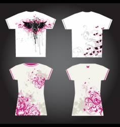 grunge t-shirt designs vector image vector image