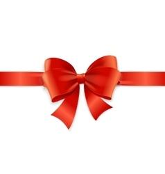Red Satin Ribbon vector image