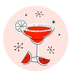 retro red margarita vector image vector image