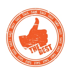 THE BEST stamp vector image