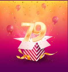 79th years anniversary design element vector image