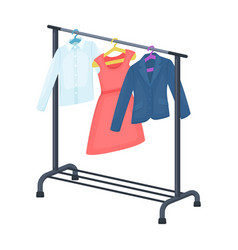A hanger with things in the wardrobemaking movie vector