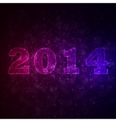Abstract background with 2014 vector