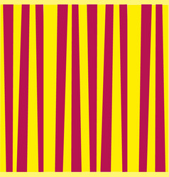 Abstract vertical striped pattern yellow and red vector