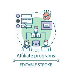 Affiliate programs concept icon affiliate vector