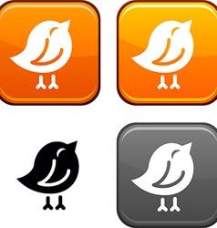 Bird button vector