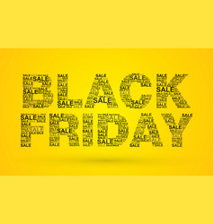black friday text designed using sale text vector image