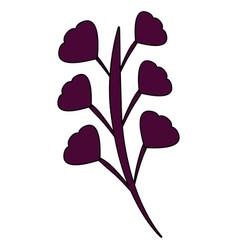 branch leaves stem bloom image vector image