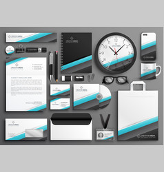 Business stationery collateral set for your brand vector