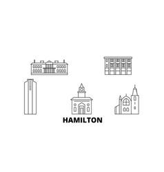 canada hamilton line travel skyline set canada vector image