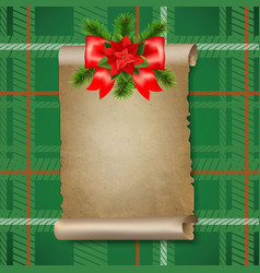 Christmas old paper scrolls banner vector