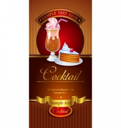 Cocktail banner vector