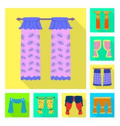 Curtains and drapes logo vector