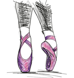 dance ballerina ballet shoes vector image