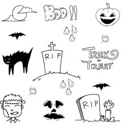 Doodle of tomb halloween vector image