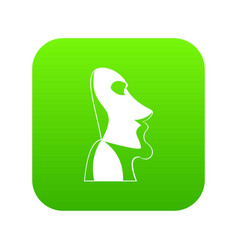 Easter island icon green vector