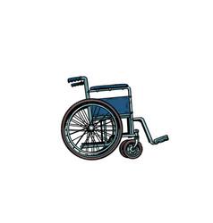 empty wheelchair human health rehabilitation and vector image