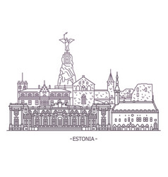 estonia architecture landmarks vector image