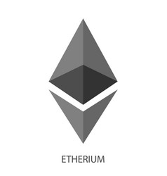etherium logo on white background vector image