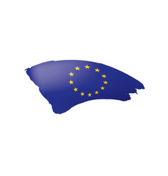 european union flag on a vector image