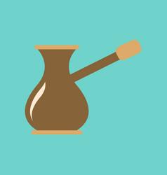 Flat icon on background coffee arabic turk vector
