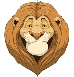 Friendly funny lion vector image
