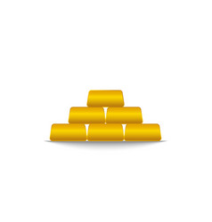 gold bar pyramid precious metal financial vector image