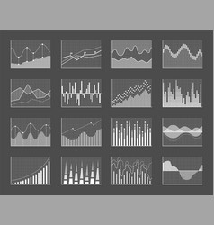 graph collection poster set vector image