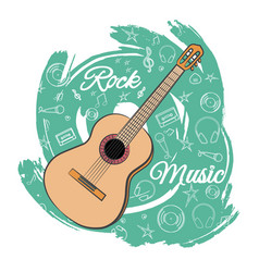 Guitar rock music-05 vector