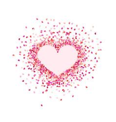 Heart shape paper confetti valentines petals top vector