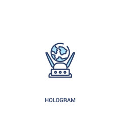 Hologram concept 2 colored icon simple line vector