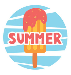 inscription summer with ice cream vector image