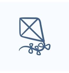 Kite sketch icon vector image
