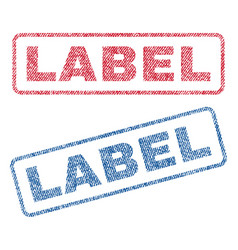 Label textile stamps vector