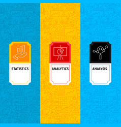 line analytics package labels vector image