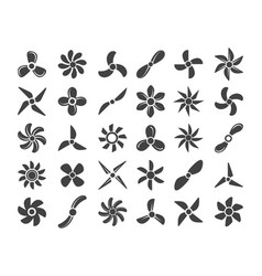 marine screws set vector image
