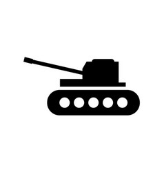 Military tank icon vector