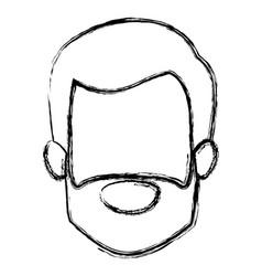 Monochrome blurred silhouette of faceless elderly vector