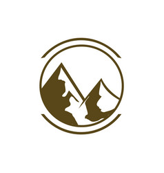 mountain logo design drawn graphic icon of the vector image