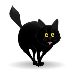 Nice black cat vector