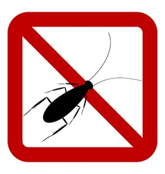 No cockroach sign vector image