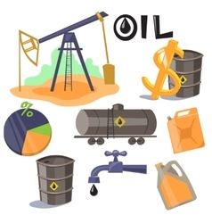 Oil Production Infographic Elements vector