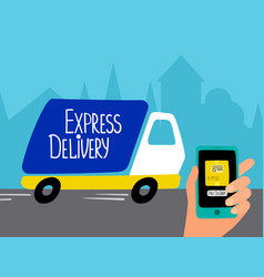 online delivery service concept delivery vector image