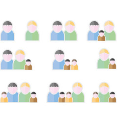 People flat symbols vector