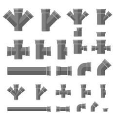 Pipes flat icons vector