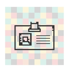 Pixel icon badge on a square background vector