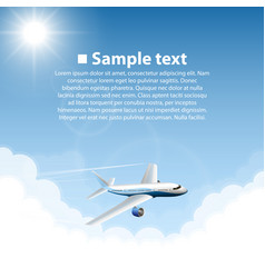 plane world sightseeing collection vector image