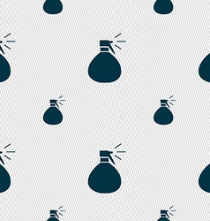 Plastic spray of water icon sign Seamless pattern vector