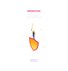 protection and safety - modern isometric vector image