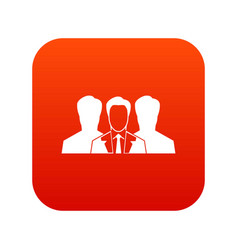 recruitment icon digital red vector image vector image
